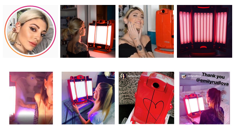 Rubino is 1 Premium Tanning Lamp + 1 Collagen Lamp + 1 Infra Red Lamp