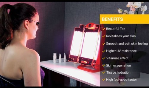 Solarium Face Tanning Lamp For Face Throat And Neckline