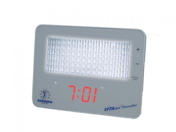 Travel alarm clock with light effect LED VITAclock® Traveller